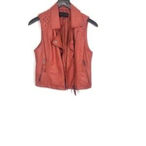 Love Culture Faux Leather Moto Vest Size Medium